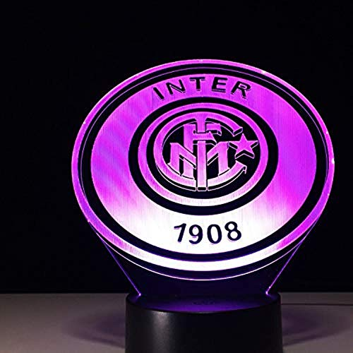 - FFYYJJLEI Italia Inter Fc Fans Milan 3D Soccer Lamp Juventus Club 7 Colorful Football Night Light Best Gifts for Kids Dad Friends