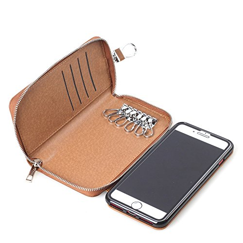 Hulorry iPhone X Case Wallet Zipper, Credit Card Holder Slot Case Magnetic Phone Sleeve Heavy Duty Shockproof Protective Cover with Zipper Wallet Key Case for iPhone X by Hulorry