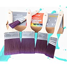 Finnhomy Advantage Paint Brush Set with Wood Handles 100% SRT PBT Filament Paint Brushes for Wall Home Paintbrush, 5-Piece
