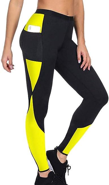 laamei Pantalon Sudation Femme Legging Minceur Transpiration Sauna Shaper Pants pour Fitness Sport Gym