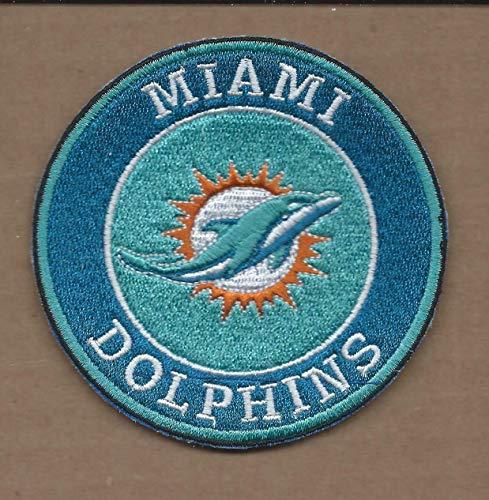 New 3 1/2 INCH Miami Dolphins Iron ON - Applique Dolphins Miami