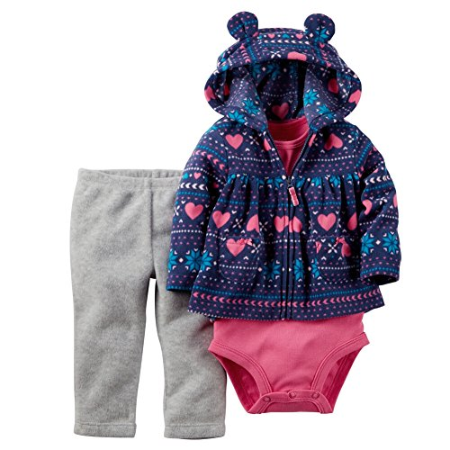 Carters Baby Girls' Fair Isle 3-Piece Cardigan Set