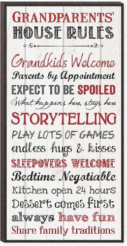 Grandparents' House Rules Mini Print 12 X 6