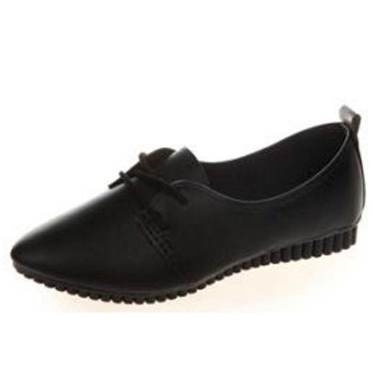 Datework Women Slip On Comfort Flat Shoes B01L8EFPBK 37 M EU|Black