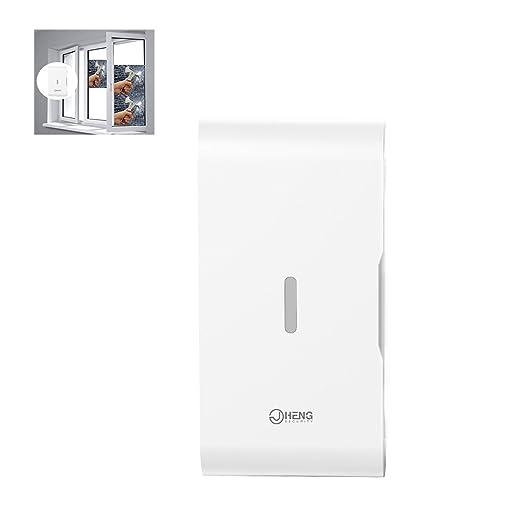 JC ventana/puerta vibración Glass break sensor de vibración inalámbrico 433 MHz sistemas de alarma de seguridad para el hogar negocio
