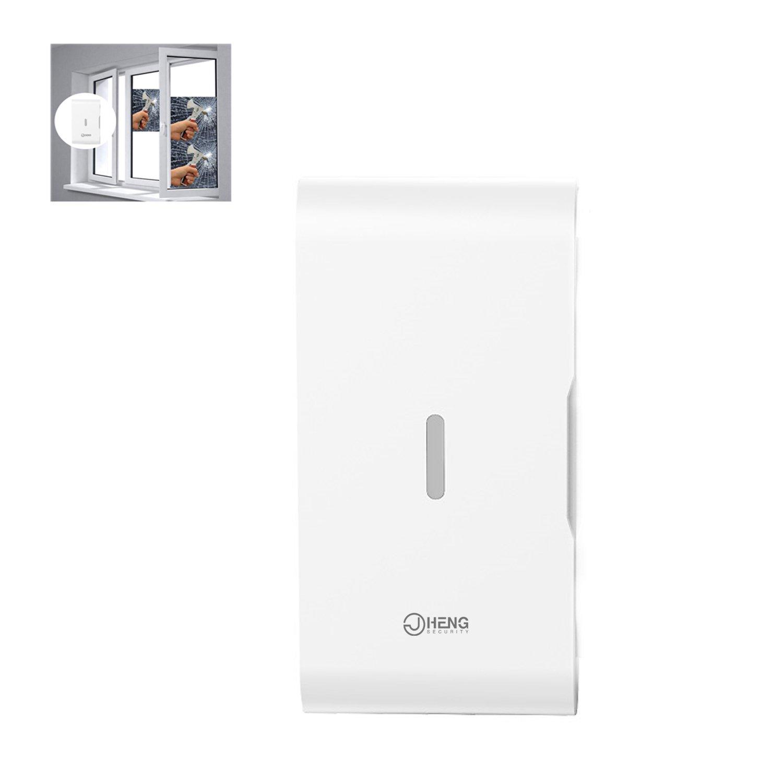 JC Window/Door Vibration Glass Break Vibration Sensor Wireless 433MHz for Home Business Security Alarm Systems
