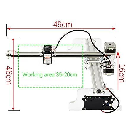 Diy 3520 Laser Engraver Machine Working Area 35x20cm2500mw Laser