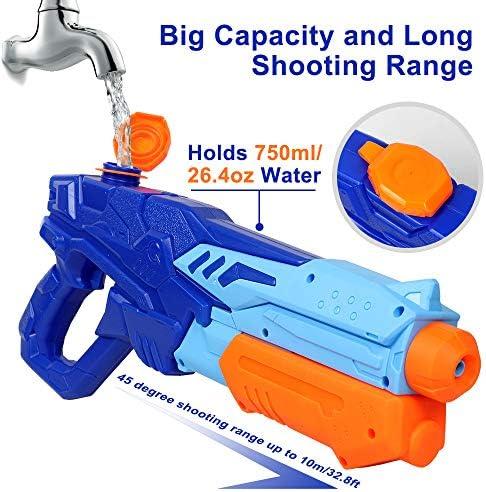 fiesta de verano para adultos excelentes juguetes de verano en el parque de la playa al aire libre paquete de 4 pistolas de agua para entrenamiento de perros y gatos Water Squirt Guns para ni/ños