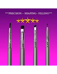 Eyeliner Brush Set Star Beauty Premium Brushes For Precision Gel Eye Liner Makeup Application Pencil Brush– Small Angled Eyeliner Brush BEST SELLER- Fine Point PERFECT Winged Eyeliner Brush Control.
