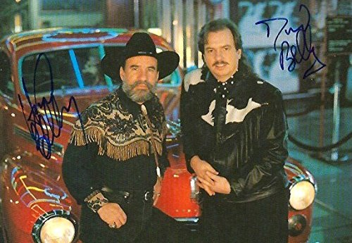 Bellamy Brothers POP and COUNTRY DUO autographs, signed postcard - Photo Bellamy