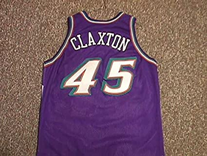 Image Unavailable. Image not available for. Color  Charles Claxton Utah  Jazz 1996-2003 Utah Jazz Game Worn Jersey f46bc5563