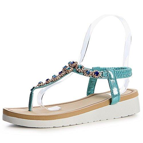 Sandalettes topschuhe24 Turquoise topschuhe24 Femmes Sandales Femmes F6nqC8ww