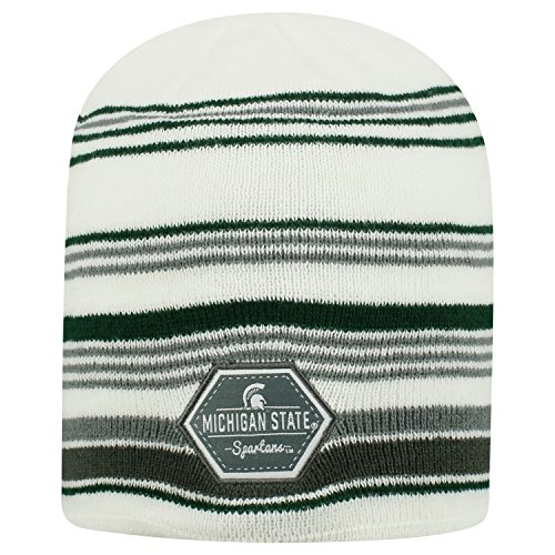 Top of the World Michigan State Spartans Official NCAA Uncuffed Knit Channel Stocking Stretch Sock Hat Cap Beanie 480787 (Michigan State Stocking Cap)