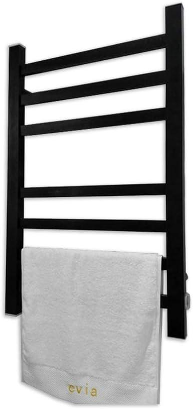 SQL Termostático Negro Calefaccion electrica Toallero, aleación de Aluminio 130W Escalera Plana de radiador para baño Elegante, 80 * 60 * 11 cm: Amazon.es: Hogar
