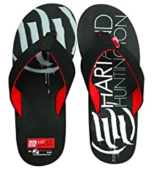 Smooth H & H Flip Flops, Primary Color: Black, Size: 9, Distinct Name: Black, Gender: Mens/Unisex 3000-009