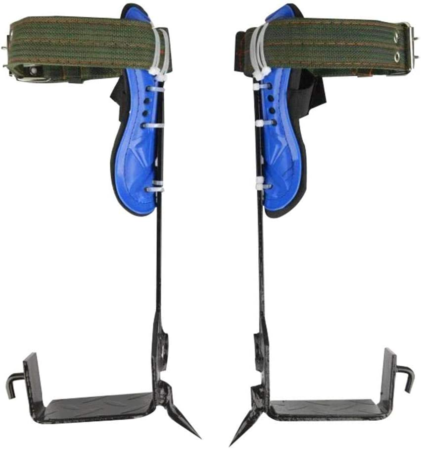NMSLA 2 Gears Tree Climbing Spike Set Non-Slip Climbing Tree Spikes Safety Belt Adjustable Lanyard Rope Rescue Belt Enhanced