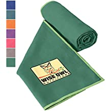 Camping Towel by Wise Owl Outfitters - Ultra Soft Compact Quick Dry Microfiber - Great for Fitness, Hiking, Yoga, Travel, Sports, Backpacking & The Gym - Free Bonus Hand Towel - Many Colors