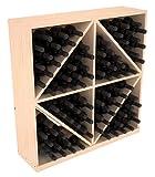 Wine Racks America Ponderosa Pine 96 Bottle Solid Diamond Bin. 13 Stains to Choose From!