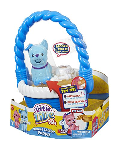 Little Live Pets Sweet Talkin Puppy Heartbeat With Basket