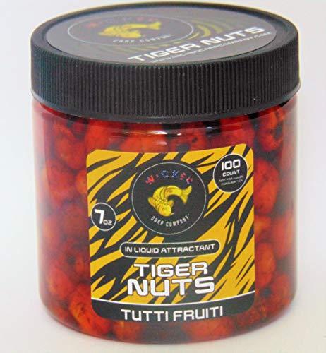 7oz (~100/tub) Tutti Frutti Prepared Tiger Nuts in Liquid | PVA Friendly Carp Bait & Catfish Bait