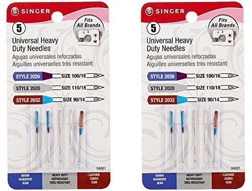 Universal Heavy-Duty Machine Needles-5/Pkg