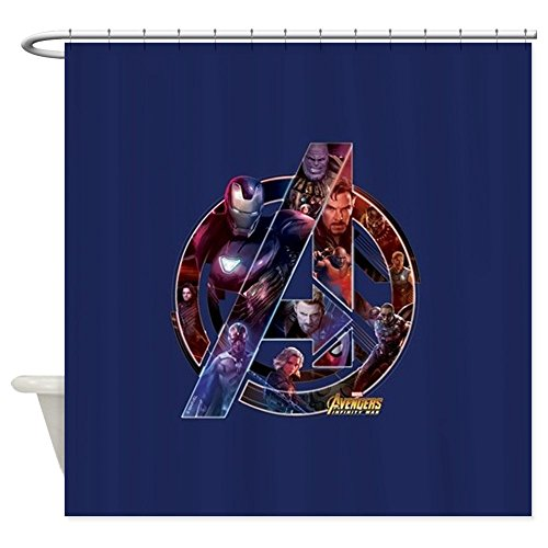 CafePress Avengers Infinity War Symbol Decorative Fabric Shower Curtain -