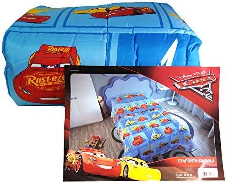 Piumone Letto Singolo Cars.Trapunta Invernale Cars Disney Pixar Piumone Singolo Azzurro Originale 1 Posto Amazon It Casa E Cucina