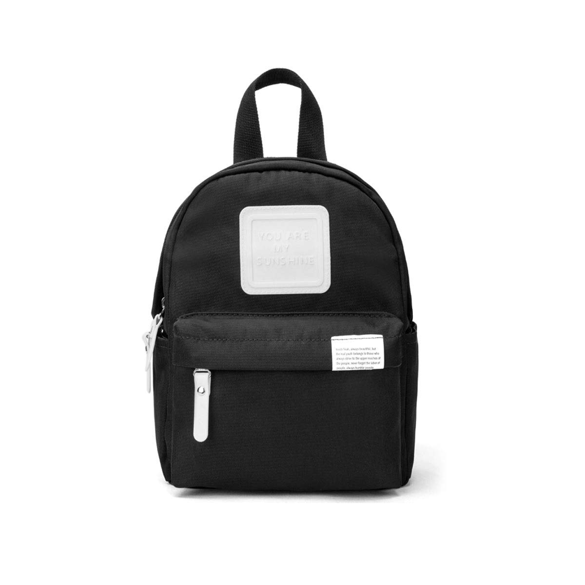 TONGBOSHI Backpack Female College Student Leisure Travel Bag, Small Fresh Backpack Campus Bag Male Fashion Trend (Color : Black)