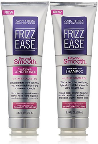 John Frieda Frizz Ease Beyond Smooth Bundle: Frizz Immunity Shampoo & Conditioner, 8.45 Ounce Each