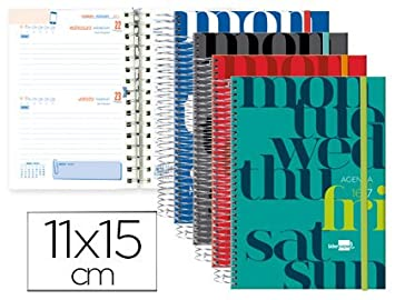 Liderpapel LP84 - Pack de 8 agendas escolares, cierre con ...