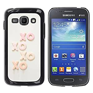 Be Good Phone Accessory // Dura Cáscara cubierta Protectora Caso Carcasa Funda de Protección para Samsung Galaxy Ace 3 GT-S7270 GT-S7275 GT-S7272 // Xo Kisses Text Sweet Love Sweethe