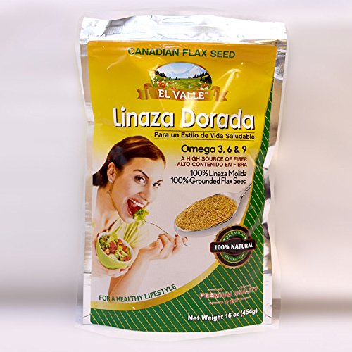 Amazon.com: El Valle Linaza Dorada Con Omega 3,6,9 100% Natural 16Oz: Health & Personal Care