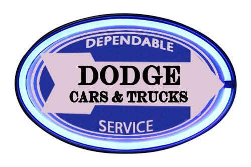 Dodge Cars and Trucks Dependable Service LED Sign, 16