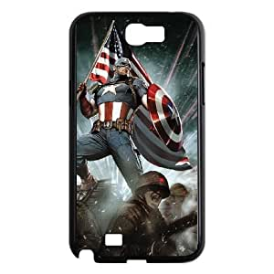 Captain America Samsung Galaxy N2 7100 Cell Phone Case Black DIY Gift zhm004_0438095