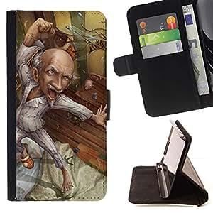 Momo Phone Case / Flip Funda de Cuero Case Cover - Abuelo Art Dibujo Saludable - LG Nexus 5 D820 D821