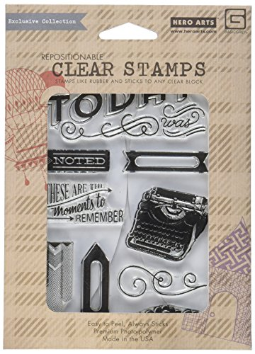 Hero Arts Capture Clear Stamps, Moments to Remember, Basic Grey