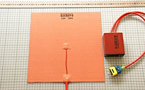 "300 X 300mm (approx. 12"" X 12"") 120V 750W, w/ Digital Controller KEENOVO Universal Flexible Silicone Heater Mat/Pad, 3D Printer Heated Bed Build Plate Heater by Keenovo International Group Limited"