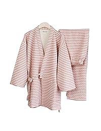 FANCY PUMPKIN Thicker Men's Japanese Style Warm Winter Kimono Pajamas Suit