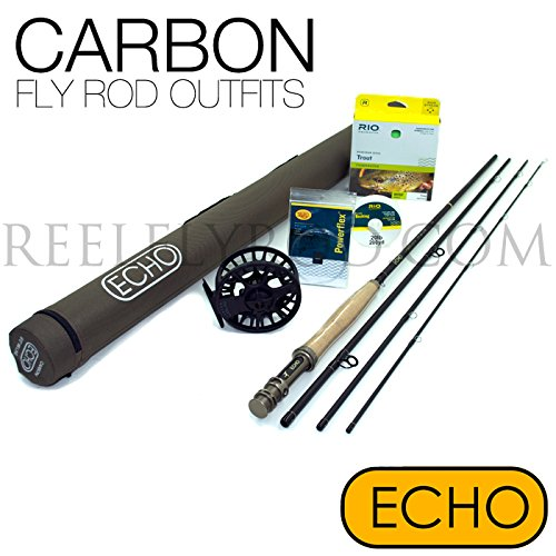 Echo Carbon XL 490-4 Fly Rod Outfit (4wt, 9'0'', 4pc) by Echo