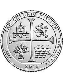 2019 P, D San Antonio Missions National Historical Park, Texas National Park Quarter Singles - 2 Coin Set Uncirculated
