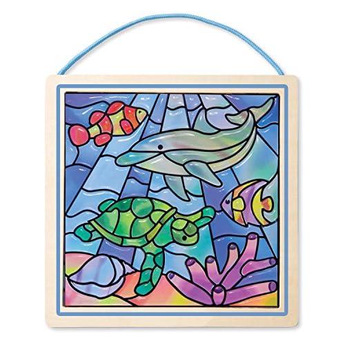 Melissa & Doug 18582 - Vitraux Devenus Un Jeu D'Enfant • Océan - Multicolore