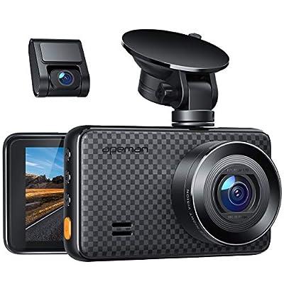 APEMAN 1440P&1080P Dashcam vorne und hinten, Maximal 1520P, 128 GB Unterstützung, 170° Dashcam Autokamera mit 3 Zoll IPS…