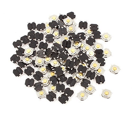 100 Pcs Momentary Tact Tactile Push Button Switch 4 broches SMD Montage en surface 5x5x1.5mm DealMux DLM-B008DS1FQO