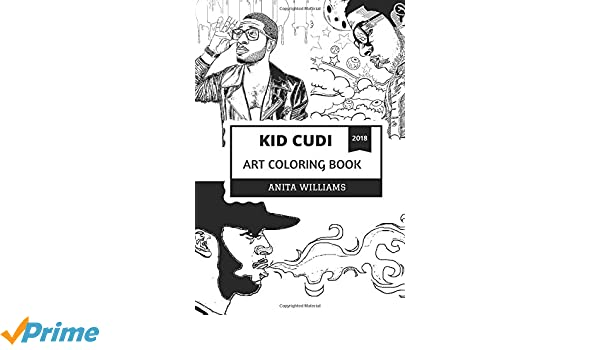 Kid Cudi Art Coloring Book Alternative Hip Hop And New Rock Prodigy Billboard Chart Phenomenom Acclaimed Actor Inspired Adult Anita