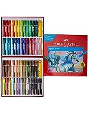 Faber-Castell PL523248 50-Piece Oil Pastels, Multicolour