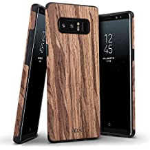 Galaxy Note 8 Case, BELK [Air To Beat] Non Slip [Slim Matte] Wood Grip Rubber Bumper [Ultra Light] Soft TPU Back Cover, Premium Smooth Wooden Shell for Samsung Galaxy Note 8 - 6.3 inch, Cherry