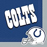 MLB Indianapolis Colts Party Paper Luncheon Napkins Tableware, 16 Pieces, Made from Paper, by Amscan
