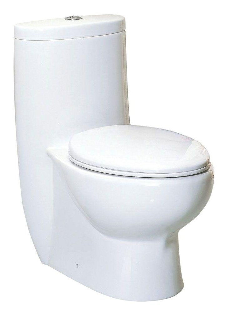 Whitehaus WHMFL3309-EB-WH haus High Efficiency Toilet by Whitehaus Collection