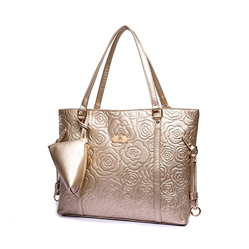 VVeda Rose Two-piece Female Bag Package 2016 Summer New European and American Handbags(Gold)