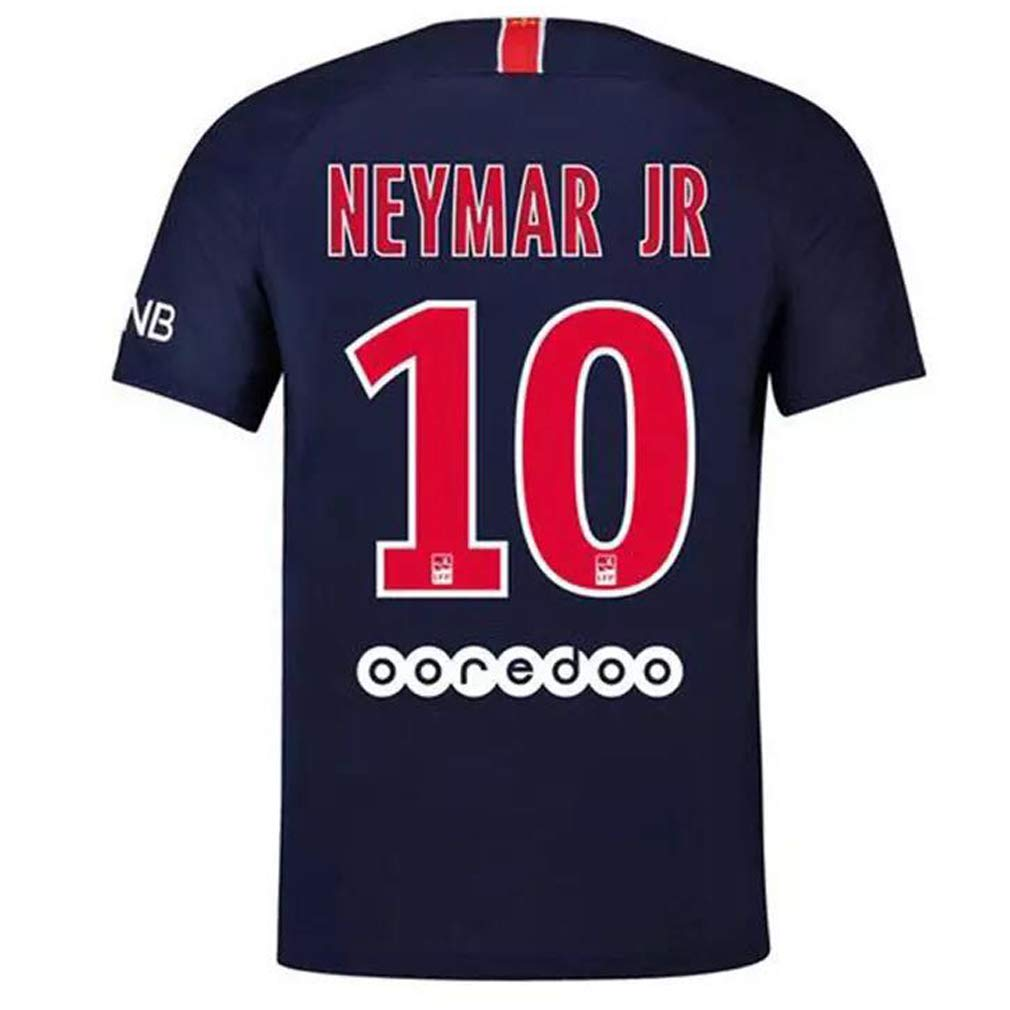 FLAGSPOND Paris Saint-Germain Neymar JR 10# PSG Home Stadium Soccer Jersey Mens 2018-2019 Season Blue/Red FLAGSPONDNEY
